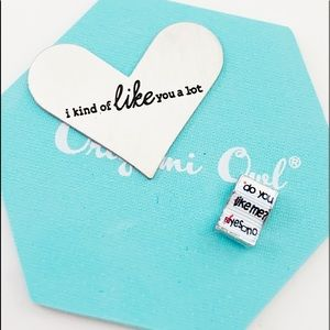 Origami Owl Large Heart Plate Plus Charm